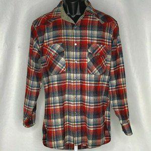 Vintage Pendleton Western Pearl Snap Shirt M Red
